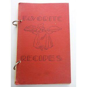 Vintage 1951 Cookbook Favorite Recipes Zion Luther